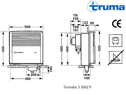 calefaccion trumatic s 3002 encendido automatico sin. Black Bedroom Furniture Sets. Home Design Ideas