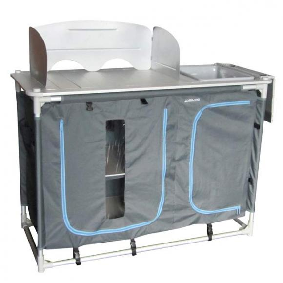 Mueble cocina aluminio con fregadero etna midland caravana - Muebles con fregadero ...