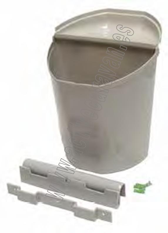 Cubo de basura gris 27x29x17 cm para montaje auto caravanas - Cubo basura puerta ...