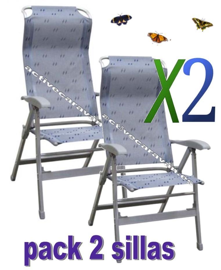 Silla confort maxi de aluminio midland auto caravana for Sillas de aluminio