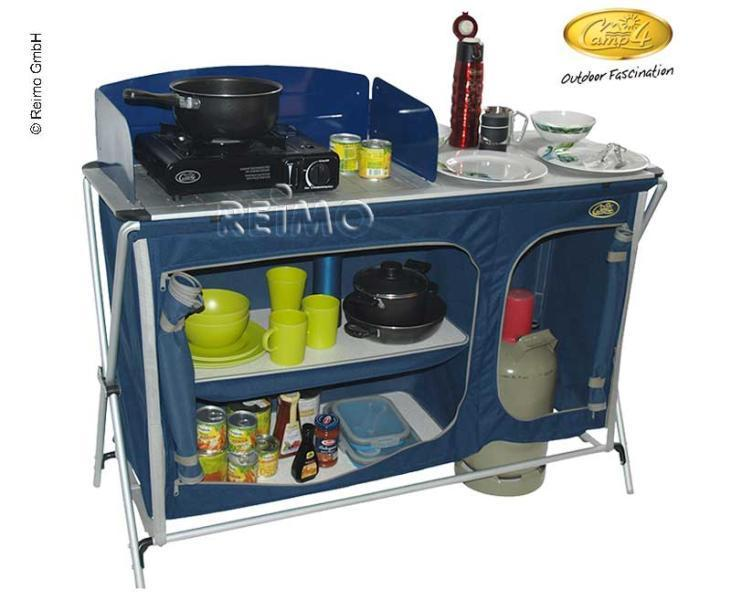 Mueble de cocina cuccina quick kochschrank azul caravana for Mueble de cocina camping