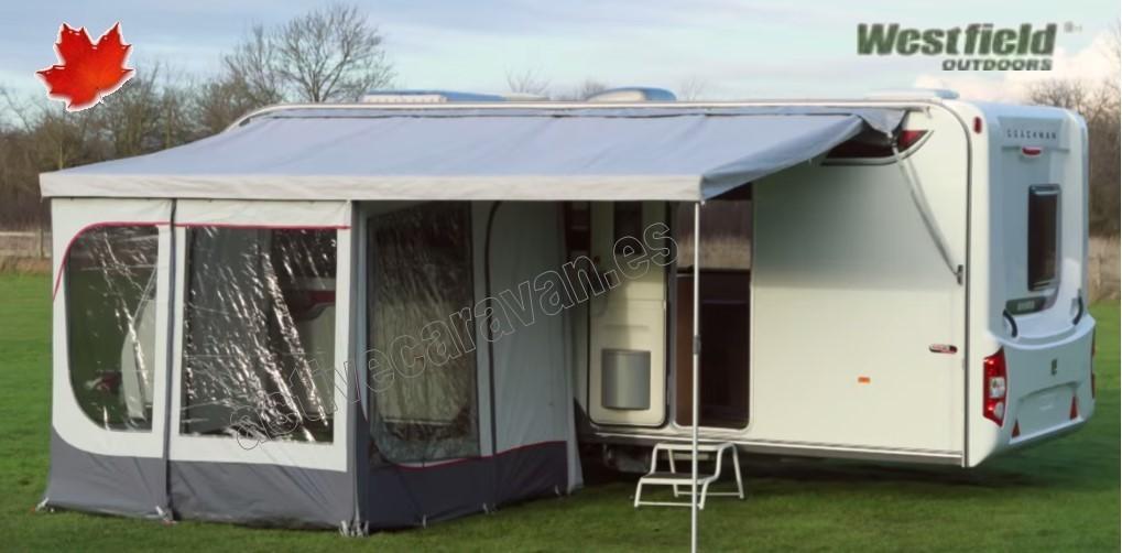 Westfield caravan instant roof toldo con cerramiento caravanas for Toldos para caravanas
