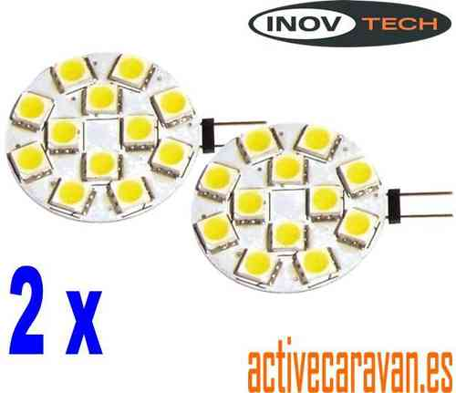 Pack 2 Ud. Pack 2 Ud. G4 Smd Led Salida Lateral