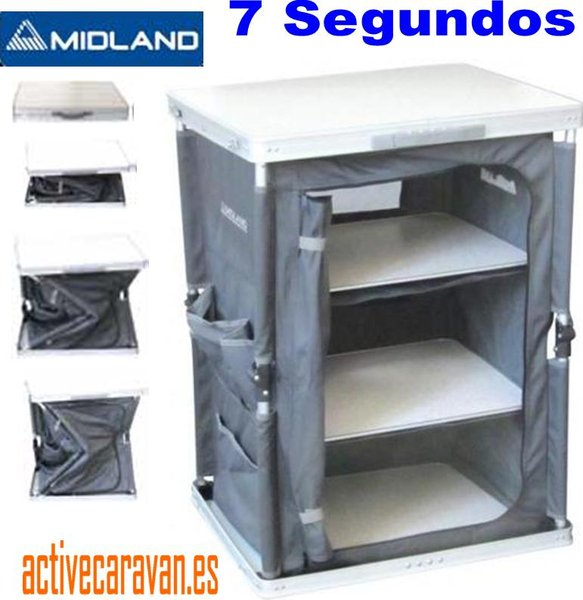 mueble de cocina 7 segundos plegable en aluminio midland