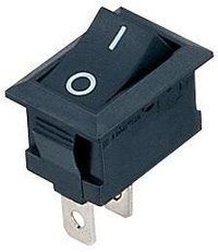 Interruptor On/Off Basculante Negro 2 Pin