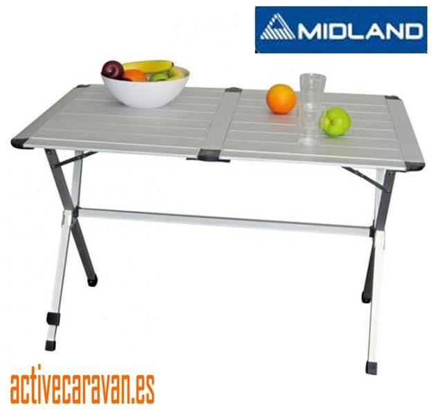 Midlan mesa aluminio plegable gap less 140x69x80 cm gp6 for Mesa plegable camping