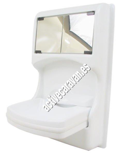 Lavabo plegable con mueble y espejo camper auto caravana for Rinconeras para ducha