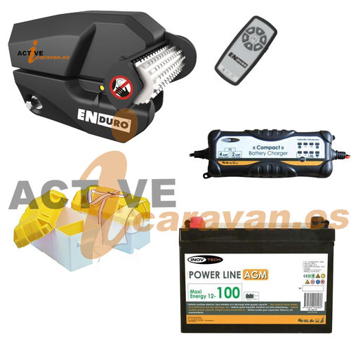 PACK MOVER ENDURO EM303 + BAT 100AH AGM + CARG INTEL + CAJA BAT