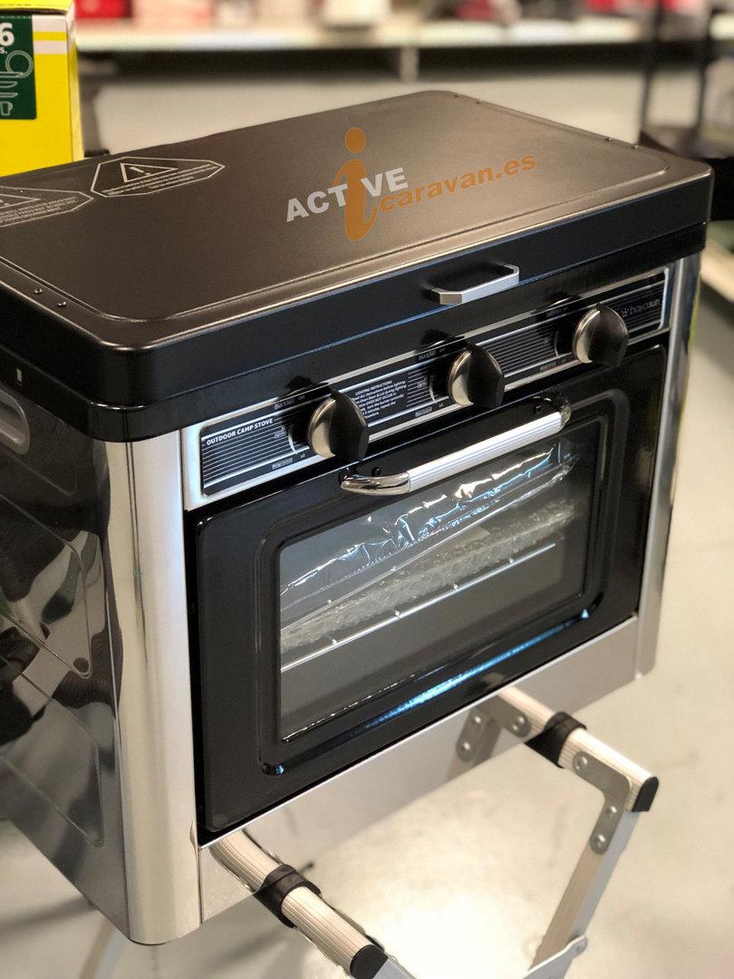 hornillo con horno portatil de gas midlan bayasun camping