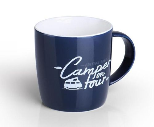 Taza Azul Holiday Travel de 340ml.
