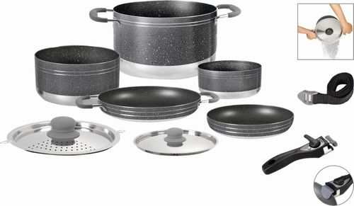 Brunner Alu Cooking Set Gourmet Rock